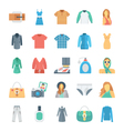 Fashion and Clothes Icons 6 vector image