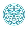ornamental woman face vector image