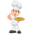 Cartoon Chef with pizza vector image