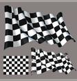 race checkered finish waving flag vector image