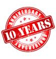 105 years anniversary stamp vector image