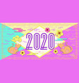2020 happy new year colorful banner vector image vector image
