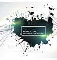 abstract background of black ink splatter with vector image vector image