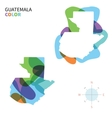 Abstract color map of Guatemala vector image