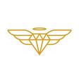 angelic diamond logo vector image