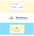 Beautiful cycle logo and business card vertical