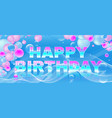 birthday bright banner girly theme vector image