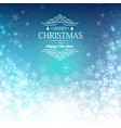 blue greeting merry christmas decorative card vector image vector image