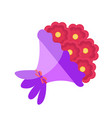 bouquet flowers icon flat design isolated on vector image vector image