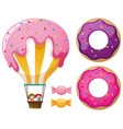 candy balloon and donuts vector image vector image
