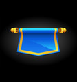 cartoon blue cartoon flag for game vector image