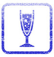 Champagne glass framed textured icon