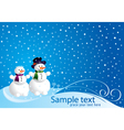Christmas card with happy smowman vector image vector image