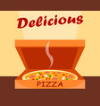 classic pizza in box cartoon vector image