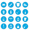 cleaning icon blue vector image vector image