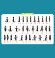 collection set of walking business woman vector image vector image