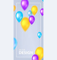colorful abstract cover design with flying vector image vector image