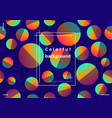 colorful circles with gradient vector image