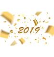 confetti gold blur 2019 vector image vector image