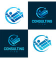 consulting and counseling icon and logo vector image vector image
