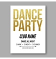 dance party flyer golden style template vector image vector image