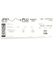 detailed realistic airline boarding pass vector image vector image