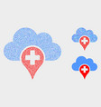 dotted medical cloud icons vector image vector image