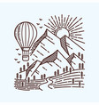 explore more with hot air balloon line vector image vector image