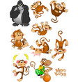 family of monkeys vector image vector image