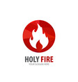 fire logo for business company simple fire vector image