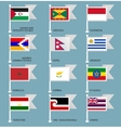 Flags set four-15 vector image vector image