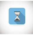Flat hourglass icon vector image