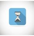 Flat hourglass icon vector image