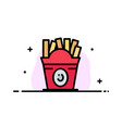 fries fast food food usa business flat line vector image vector image