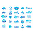 frozen product logo snow and winter snowflakes vector image vector image