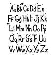 Hand written font alphabet vector image vector image