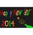 Happy NewYear 2014 vector image vector image
