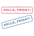 hello friday exclamation textile stamps vector image