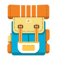 hiking travel backpack icon vector image vector image