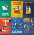 Insurance Poster Set vector image vector image