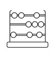 isolated abacus design vector image