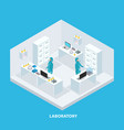 isometric medical research concept vector image vector image