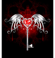 Key with Vampire Heart vector image