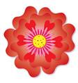 love flower vector image vector image