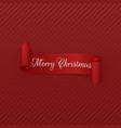 merry christmas scroll ribbon vector image vector image