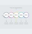 modern abstract 3d infographic template with vector image vector image
