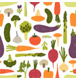 modern seamless pattern with delicious vegetables vector image