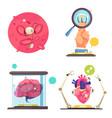 nanotechnologies 2x2 design concept vector image vector image