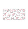 obsessive love concept banner in outline vector image vector image