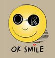 Okay smile vector image vector image